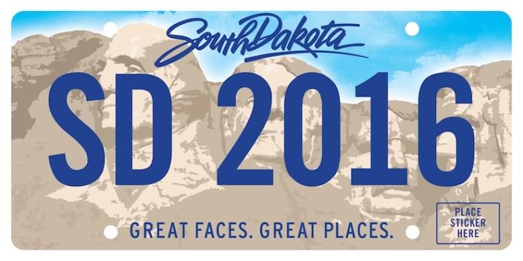 Design for new South Dakota license plate, coming 2016