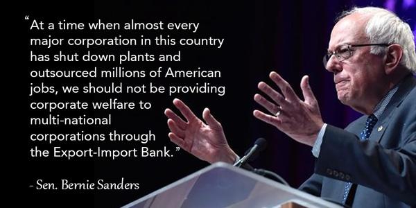 Bernie Sanders on corporate welfare
