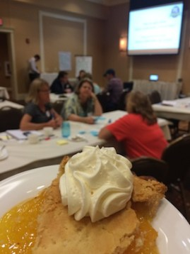Pie at the Prairie Idea Exchange—take your time, don't talk with your mouth full....