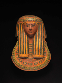 Egypt, New Kingdom, reign of Ramesses II, ca. 1279–1213 b.c. Painted cartonnage 2011.017.001 Gift of Joop Bollen. Photo from Emory Michael C. Carlos Museum.