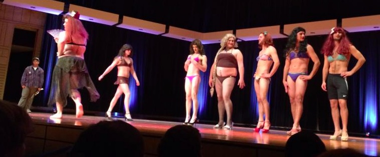 Caleb Finck, Homelycoming swimsuit competition, 2014