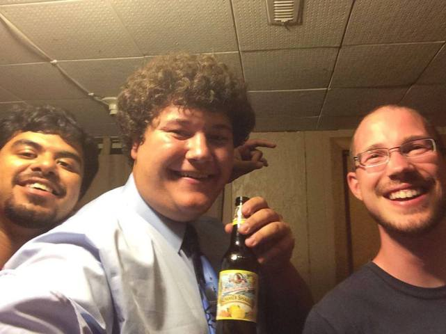 Caleb Finck enjoying beer, Facebook, 2014.07.14