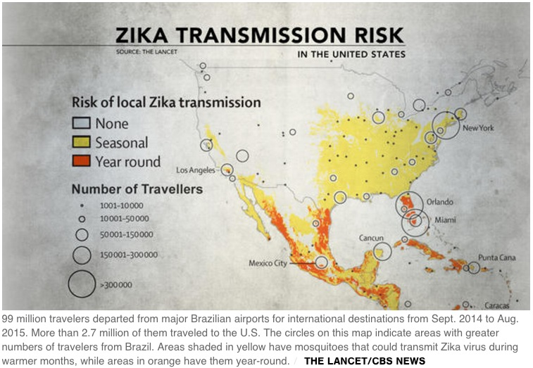 Lancet/CBS Zika US graphic