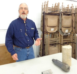 Larry Stetler, non-core bit, rock core sample