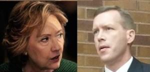 Hillary Clinton and Kurt Evans