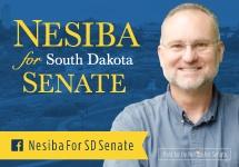 Senator-Elect Reynold Nesiba, headed to Pierre.