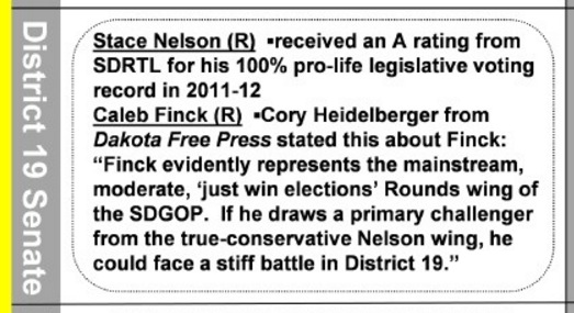 South Dakota Right to Life, primary voter guide, LifeFacts, Summer 2016 edition, posted 2016.05.04, p. 4.