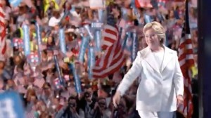 The next President of the United States, Hillary Clinton, taking the stage at the Democratic National Convention, Phialdelphia, PA, 2016.07.28.