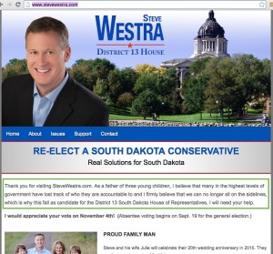 Westra back to the sidelines. (SteveWestra.com, screen cap, 2016.07.30.)