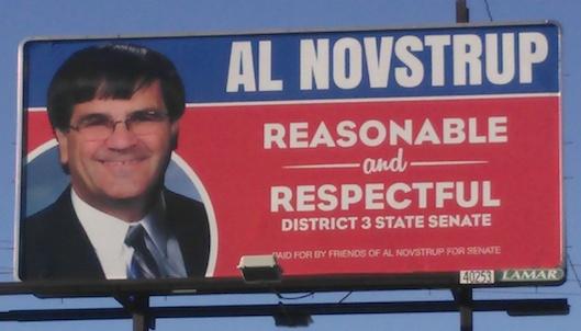 Novstrup billboard, 4th and Dakota, Aberdeen, SD.