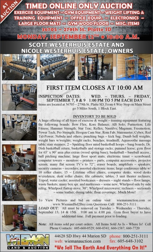 Westerhuis auction notice