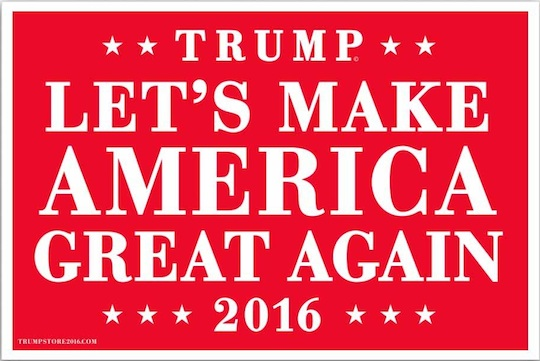 Donald Trump campaign sign 2016