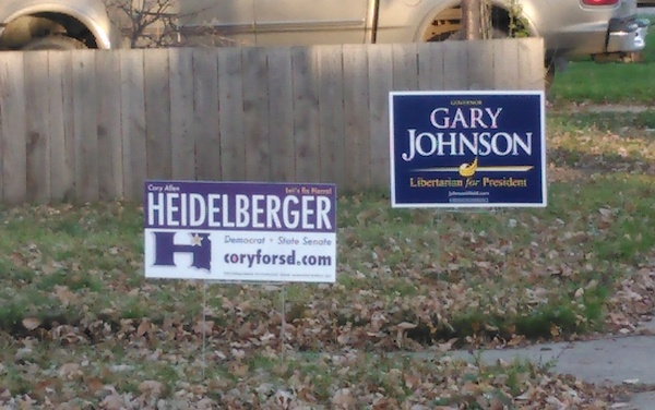 In the same yard—you know, I am 52% Libertarian....