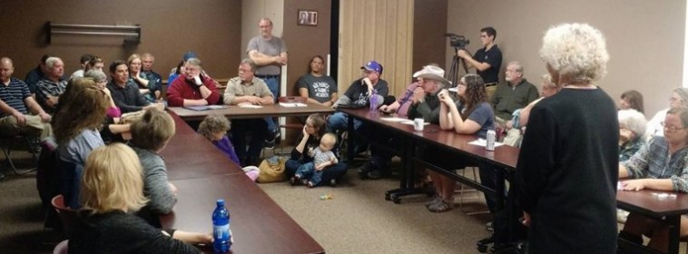 Pennington County Democrats meeting, Rapid City, SD, 2016.11.13. Photo by Katrina Wilke.