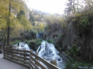 Roughlock Falls—yeah, I can see wanting to get married there. Photo by CAH, September 2015.