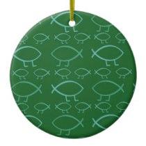 Darwin fish ornament