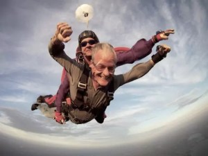 Governor Dennis Daugaard skydives