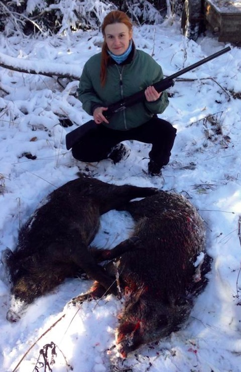 Butina, hunting in Russia, 2014