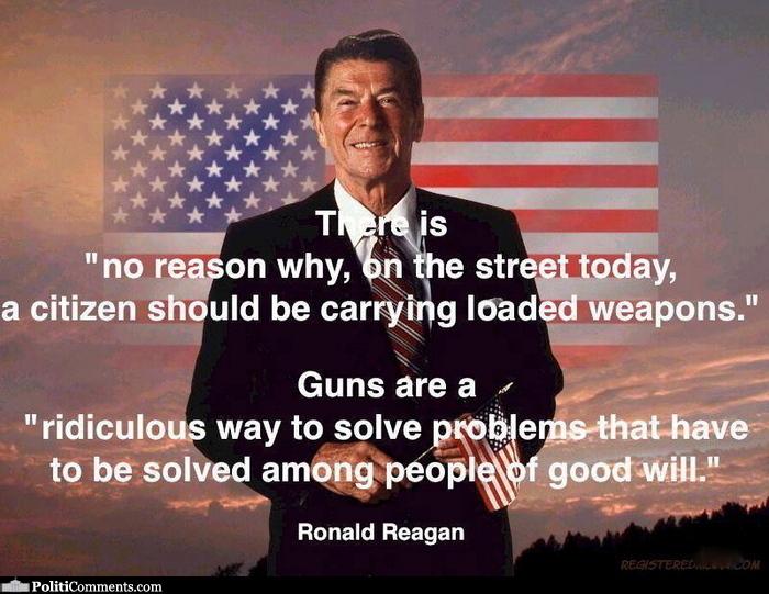 Reagan guns ridiculous