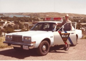 Raise the speed limit a little more, and maybe we can travel back in time... [source: SDHP trooper Jerry Skubic, Sisseton, circa 1984]