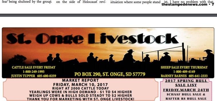 StOnge Livestock in Stampede