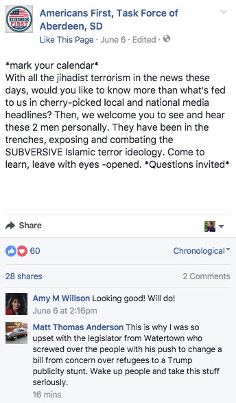 AF,TF Facebook post and comments, 2017.06.06.