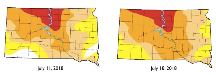 UNL Drought Monitor SD maps