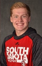 Bryce Fehringer, political science major, swimmer, University of South Dakota. (Photo from USD)