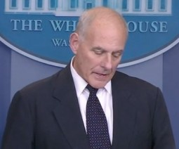 Chief of Staff john Kelly, doing the best he could at the White House, 2017.10,19. Screen cap from NYT video.