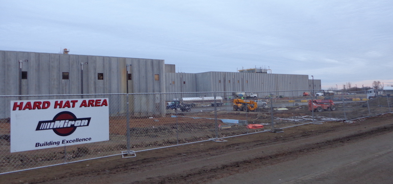 Construction on west side of agropur cheese factory lake norden south dakota 2017 12