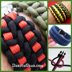 Paracord Bracelets with Dakota Gear