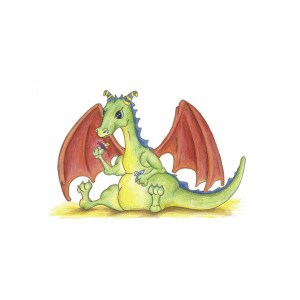 """Baby Dragon At Play"" by Dakota Midnyght Art"