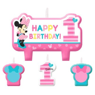 Minnie Mouse Fun To Be One 1st Birthday Candles 4ct
