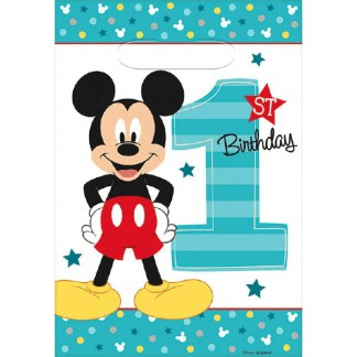 Mickey Mouse Fun To Be One 1st Birthday Loot Bag 8ct