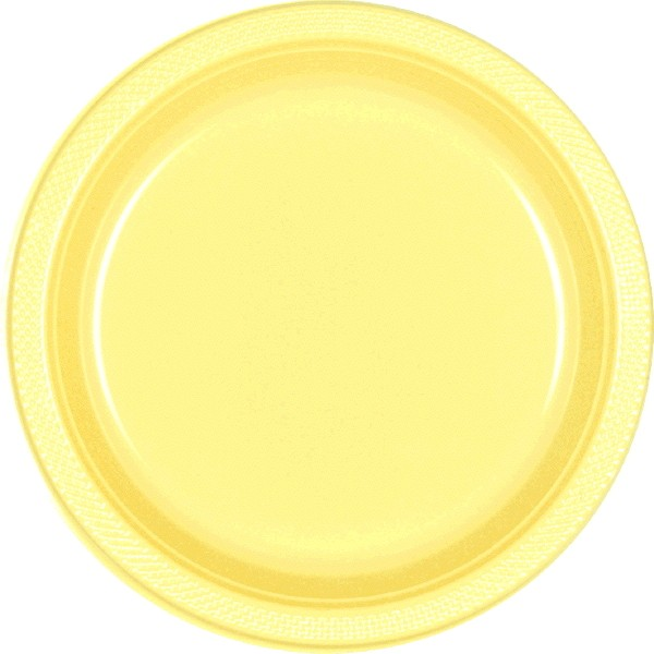 Light Yellow 7\u2033 Plastic Plates 20ct  sc 1 st  Dakota Party & Light Yellow 7\u2033 Plastic Plates 20ct \u2013 Dakota Party