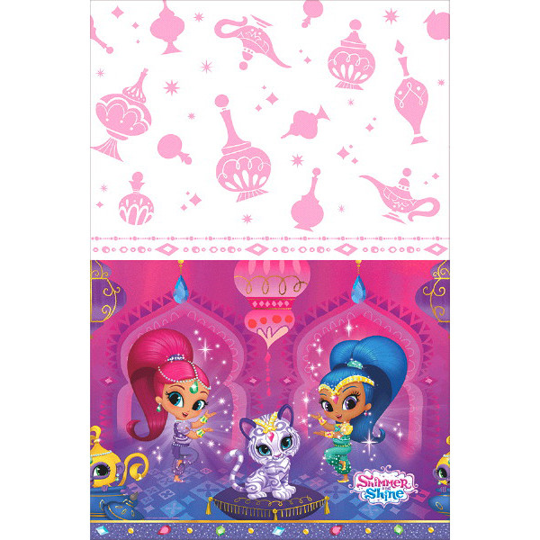 "2 Shimmer and Shine Party Plastic Tablecover 54/"" x 96/"""