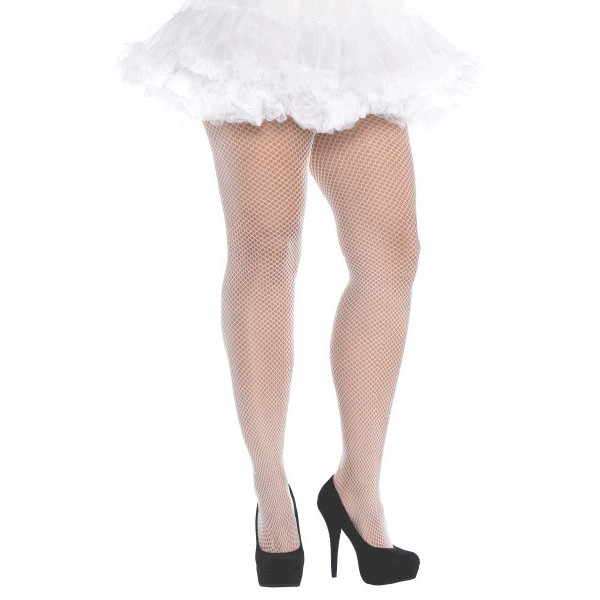 852f23532fe14 White Fishnet Stockings – Adult Plus – Dakota Party