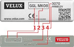 identificatieplaatje nieuwe generatie VELUX