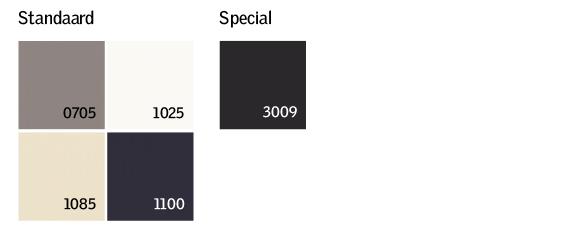VELUX kleuren tabel