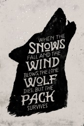 When the snows fall and the wind blows, the lone wolf dies, but the pack survives