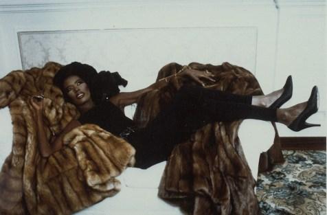 Grace Jones Luxuriating on Furs