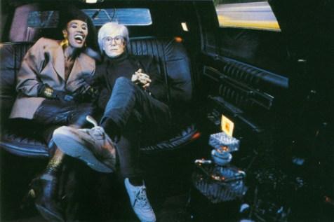 Grace Jones Andy Warhol Back of Limo