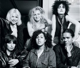 Clockwise from top left: Harry, Albertine, Sioux, Black, Styrene and Hynde in 1980 GETTY
