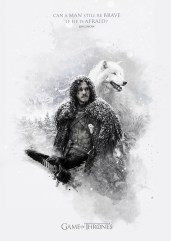 Jon Snow Ghost Jack Usephot Game of Thrones Poster