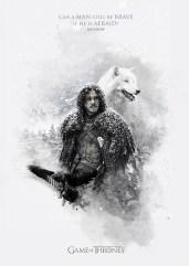 Jon Snow Ghost Jack Usephot Game of Thrones Poster