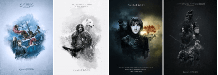 game of thrones posters_fan art comp