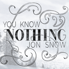 You Know Nothing Game of thrones typography poster