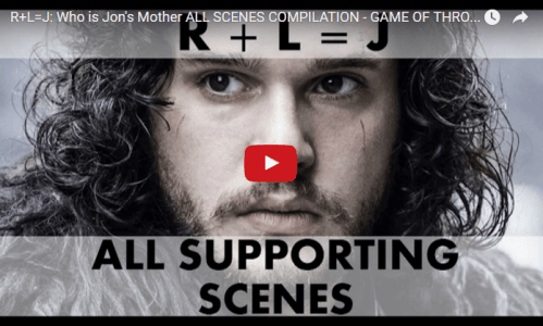 Game of Thrones Season 6 Jon Snow Theory Video