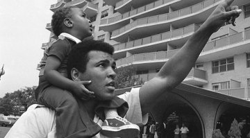 Muhammad Ali with son