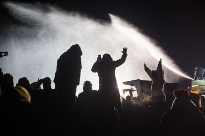 Photo by Adam Alexander Johansson nodapl-standing-rock-freezing-water-cannons-4